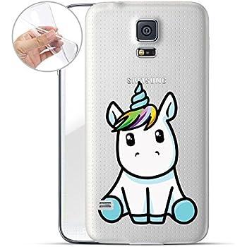 Handyhülle für Samsung Galaxy S5 ( Einhorn ) - Hülle
