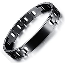 OPK joyería religiosa extrasístole titanio negro puro personalizado Cruz del brazalete de la pulsera de los hombres de la joyería