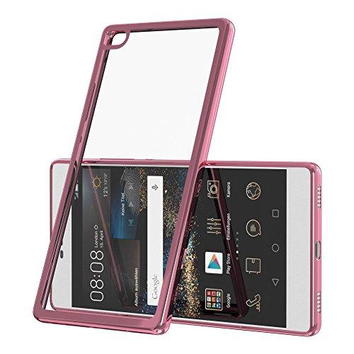 Chrom Cover für Huawei Ascend Y625 Schutz Hülle TPU Case Silikon Tasche Metallic Bumper Pink