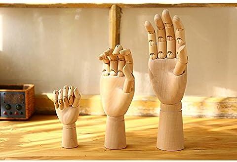Gold butterfly@ Holz Hand ein hölzernes Handmodell Gelenk Hand Skizze Comic Rechte Hand
