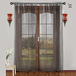 E-Retailer 0.30mm PVC AC Transparent Curtain (Width-54Inches X Height-108Inches)...