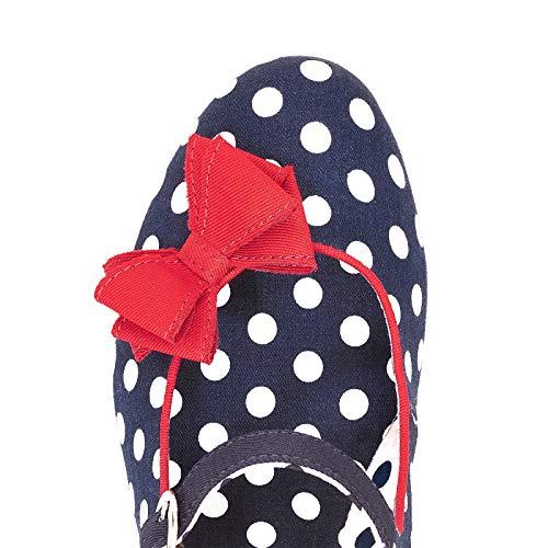 Ruby Shoo Damen Schuhe Polka Dot Retro Pumps Blau - 2