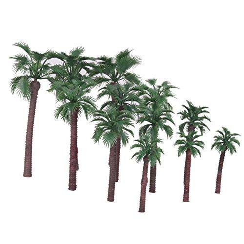 Preisvergleich Produktbild 12pcs Warhammer Landschaftsbau Palm Baum Bäume Modelleisenbahn 15-8CM
