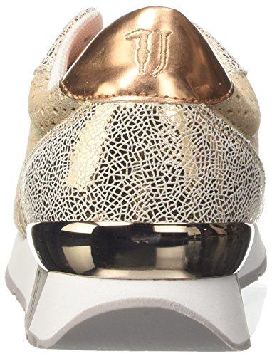 Trussardi Jeans 79s50853, Sneaker a collo basso Donna Oro