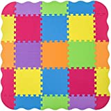 Foam Puzzle Play Mat with Borders Kids Multi-Color Safe Baby Playground Soft Padded Floor Protection High Quality EVA Foam Interlocking Tiles Non-Toxic