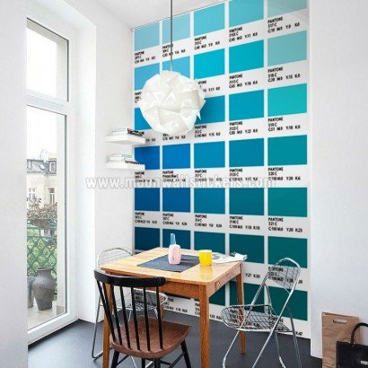 Pantone Fliesenaufkleber Blau Modell Wandfarben Ideen (Packung mit 56) - 10 x 10 cm