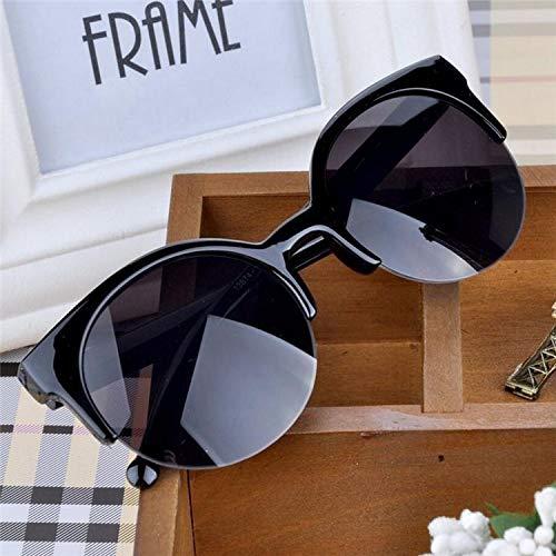 SUNNYBQM Sonnenbrillen Fashion Retro Designer Super Round Circle Brille Cat Eye Damen Sonnenbrille Brille Schutzbrille