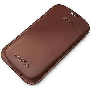 Samsung Original Tasche in Lederoptik EFC-1G6LCECSTD (kompatibel mit Galaxy S3 / S3 LTE) in camel brown