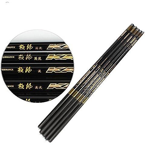 littlepig telescópica de fibra de carbono caña de pescar con caña Carp Tackle Stream mano 3,6m-7.2m,