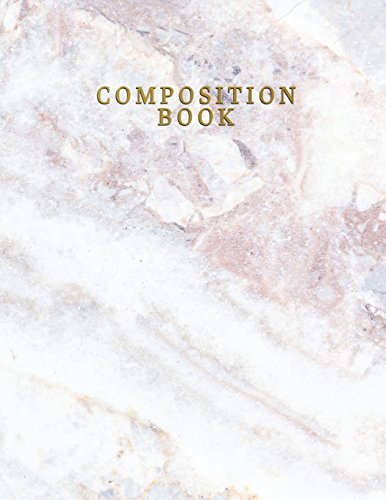 Composition Book: Marble + Gold Wide Ruled Notebook | 110-Page Marble Large Lined Journal for Doodling Journaling Writing Notes | 8.5 X 11 Matte Softback Cover por Trendy Notebooks