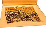 Blattgold essbar - fondant Gold - 8 x 8 cm 10 Stück für Torten - Pralinen - Backen - essbarer Glitzer, 23 Karat, Blattgold zum Basteln - Steaks - Sushi - Made in Germany - Lebensmittelfarbe Gold