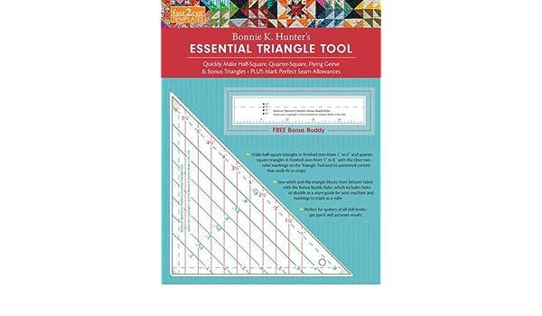 30,48 x 24,13 x 0,43 cm Mehrfarbig C/&T Publishing Fast2Cut Bonnie Hunters Essential Dreieckswerkzeug