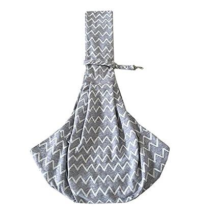 PENIVO Pet Dogs Sling Carrier Bag Grey Striped Soft Comfortable Hands-free Adjustable Shoulder Bag for Dog / Cat Bicycle… 1