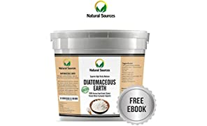 Premium Diatomaceous Earth by Natural Sources™ 1kg – Superior Quality Food Grade DE Powder, Fresh Water Source. Multiple Uses for Health, Home & Pets. Free Ebook Included