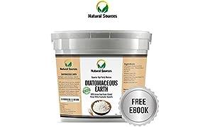 Terre de diatomée Natural Sources™ de première qualité, 1kg - Poudre de qualité alimentaire supérieure, source d'eau douce. Usages multiples pour la santé, la maison et les animaux.