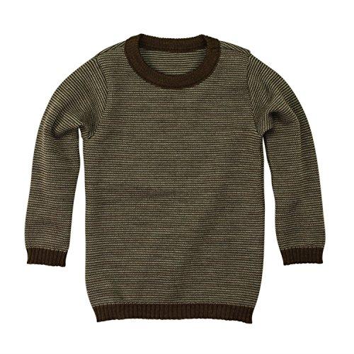 Disana Basic-Pullover - Wolle Strickpullover, haselnuß-melange, 122/128 -