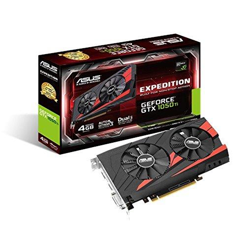 Asus GeForce GTX 1050 Ti, 4GB GDDR5 (128 Bit), HDMI, DVI, DP, EX-GTX1050TI-4G ((128 Bit), HDMI, DVI, DP)