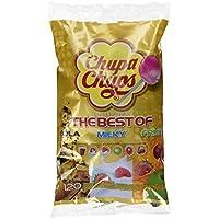 Chupa Chups Best of Lutscher-Beutel, 120 Lollis im Nachfüllbeutel, 6 farbenfrohe Geschmacksrichtungen