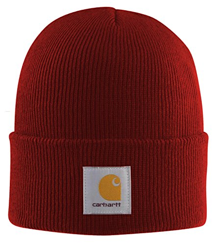 Carhartt - Acrylic Watch Cap - Dunkelrot - Strickmütze Mützen Hüte Beanie Winter Hut -