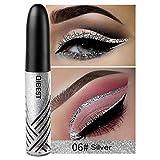 Shimmer Liquid Eyeliner Glitter Flüssiger Eyeliner Sparkling Eyeliner, Silber