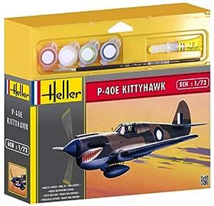 Heller - 50266 - Maquette - P-40E Kittyhawk - Chasseur Deuxième Guerre Mondiale