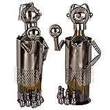 Preis am Stiel Metall-Flaschenhalter Wanderer | Flaschenständer | Wohnaccessoire | Dekoration | ausgefallenes Geschenk | Hingucker | Weinflaschenhalter