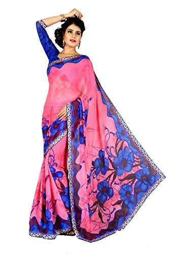 Sharda Sarees Georgette Saree(ACHL-2024B_Pink)