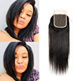 Straight Lace Closure 4x4 Silk Top Lace Frontal Closure Only 100 Brazilian Virgin Human Hair Cheap Echte Haare with Baby Hair 10inch