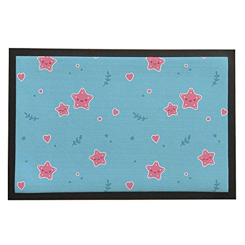 asawood Fußmatte Little Pink Star antirutsch Gummi Rückseite innen Eintrag Fußmatte (Outdoor-eintrag Möbel)
