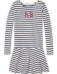Scotch & Soda Gestreift Appliqué Jersey Kleid, Robe Fille