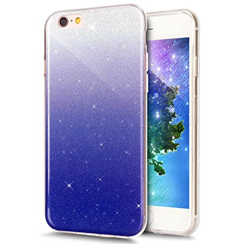 Cover iPhone 6 Plus, Custodia iPhone 6S Plus, ikasus® Colore gradiente Cristallo di lusso di Bling di scintillio lucido diamante scintilla iPhone 6 Plus/iPhone 6S Plus Case Custodia Cover Lucido scint Profondo blu