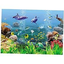 MagiDeal Imagen de Fondo Tanque de Pescados Accesorios Telón de Fondo de Acuario Cómodo - Estilo