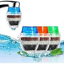 Muitobom, mini filtro per rubinetto, 3 pezzi, per casa, cartuccia al carbone di bambù, filtro purificante per rubinetto per acqua pulita