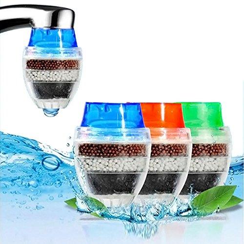 Muitobom 3 Stück Mini-Wasserhahn Wasserfilter Kokosnuss Kohlestoff-Kartusche Wasserhahn Leitungswasser Wasserreiniger Filter (Wasserhahn Wasser-filter-patrone)