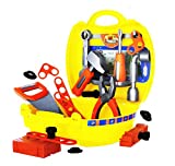 #6: Emob 25 Pcs Classic Engineering Tool Kit Play Set Toys with Handy Suitcase