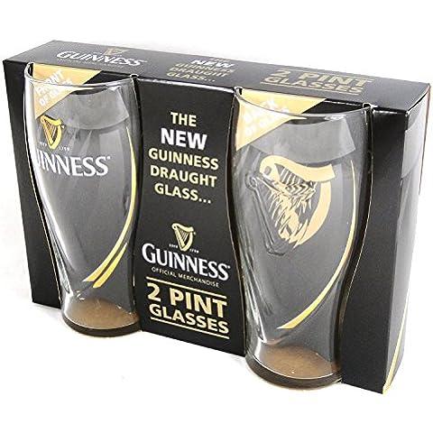 Guinness En Relieve 2 Paquete de Cristal de la Pinta
