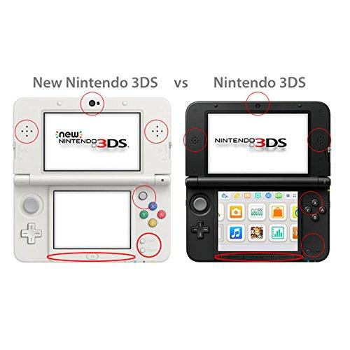 TNP New 3DS Case (Navy Blue) - Plastic + Aluminium Full Body Protective Snap-on Hard Shell Skin Case Cover for New Nintendo 3DS 2015