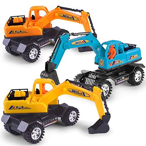 yibenwanligod Mini Simulation Bagger Engineering Van Spielzeug Kinder Kinder BAU Modell Spielzeug - Zufällige Farbe