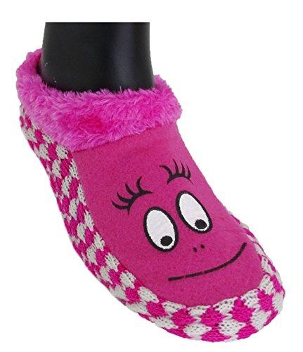 Neska Moda Premium Soft Cotton Women's Pink Booties Cum Indoor Slippers