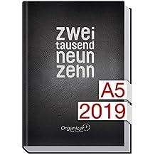 Chäff Organizer Day by Day A5 - Kalender 2019-1 Tag/Seite, Jan-Dez 2019, Terminkalender mit Tagesplaner/Tageskalender