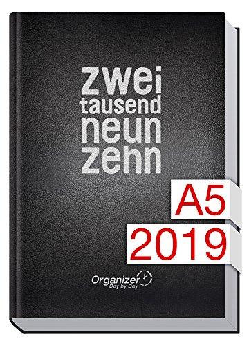 Chäff Organizer Day by Day A5 - Kalender 2019 - 1 Tag/Seite, Jan-Dez 2019, Terminkalender mit Tagesplaner/Tageskalender