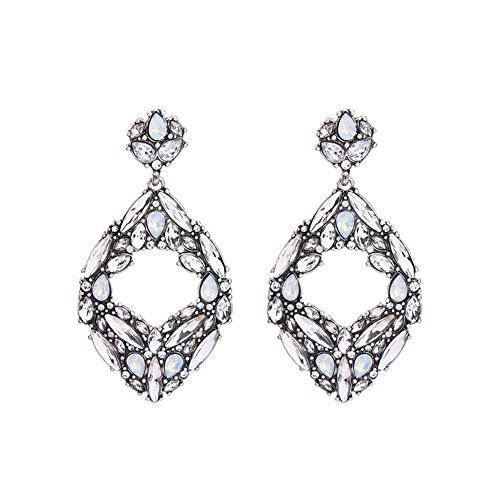 Ohrringe Klar Große Geometrische Kristall Mode Damen Party Kostüme ()