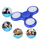 Enlarge toy image: Trixpin® Fidget Hand Finger Spinner LED Lights Steel Bearing Ultimate Spin Stress Relief EDC Toy UK STOCK (LED Edition, Blue)