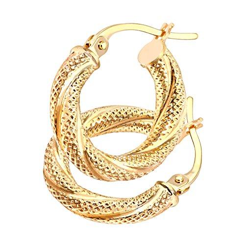 Citerna Damen-Ohrhänger Creolen 9 Karat 375 Gelbgold UER017Y