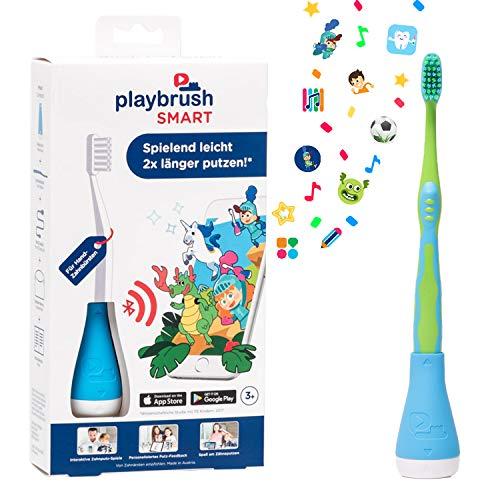 Playbrush Smart, smarte Kinder-Zahnbürste mit Apps zum spielerischen Erlernen des Zähneputzens (Signal Blau)