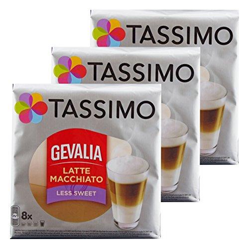 e Macchiato Less Sweet, Weniger Süß, Gemahlener Röstkaffee, Kaffeekapsel, 24 T-discs ()