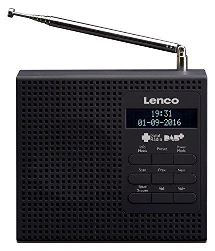 Lenco DAB+/FM Radio PDR-020 mit LCD Display, Radiowecker mit zwei Weckzeiten, Schlummerfunktion, Sleeptimer und Teleskopantenne