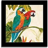 Art Street - Bird Printed Set Of 1 Black Framed Canvas Art Prints (14 X 14 Inch)
