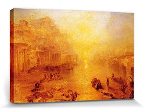 1art1 63516 Joseph William Turner - Der Aus Rom Verbannte Ovid, 1838 Poster Leinwandbild Auf Keilrahmen 120 x 80 cm