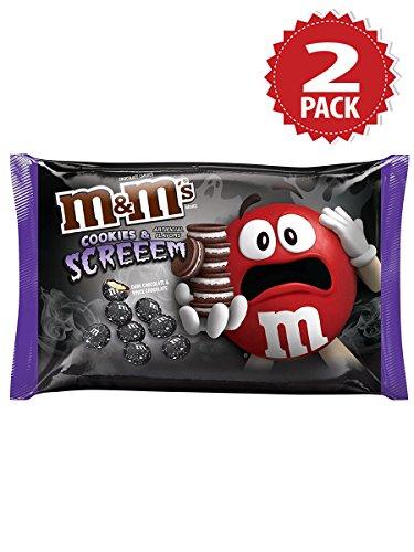 Halloween! M&M's Cookies & Screeem Dark-White Chocolate Candies - 2er Pack (Candy Halloween)